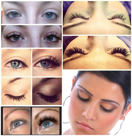 Before and After Images of Eyelash Services